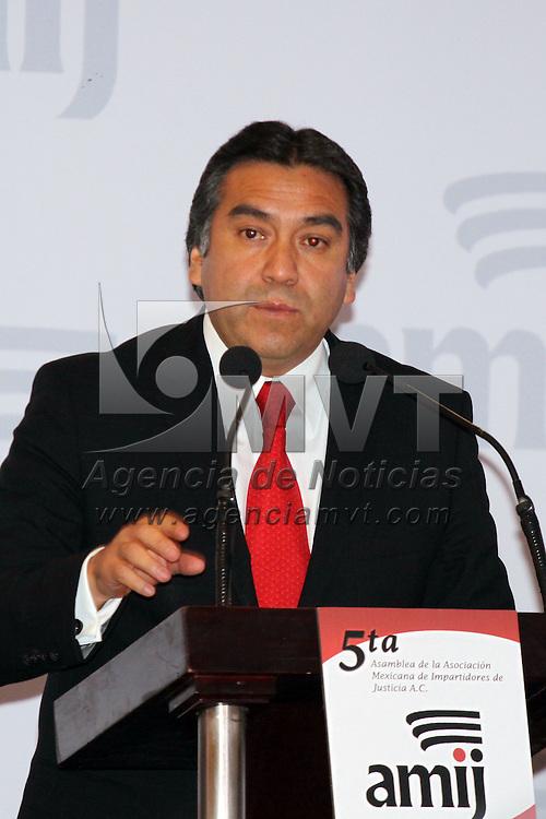 IXTAPAN DE LA SAL, México.- Baruch Delgado Carbajal, presidente del Tribunal Superior de Justicia del Estado de México, en la 5ª asamblea de la asociación mexicana de impartidores de justicia. Agencia MVT / José Hernández. (DIGITAL)