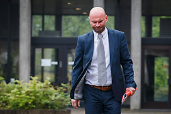May 4, 2017 - Brugge, BELGIUM - Weapon expert Erik De Durpel as he arrives for a session of the 'Kasteelmoord' (Castle murder) trial, Thursday 04 May 2017, at the Brugge correctionnal court. Andre Gyselbrecht, Pierre Serry, Franciscus Larmit and Evert de Clercq are the four accused in the so-called 'castle murder' (kasteelmoord) on Stijn Saelens, at his home, a castle in Wingene, West-Flanders province. On 31 January 2012 Saelens mysteriously disappeared from his castle. His body was found in February 2012 on a nearby property. Saelens was Andre Gyselbrecht's son-in-law. BELGA PHOTO KURT DESPLENTER (Credit Image: © Kurt Desplenter/Belga via ZUMA Press)