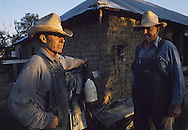 Walter and John Monohan, bachelor brothers, live in the family's original sod farm house near Deer Trail, Colorado.  © 1977 Jay Mather