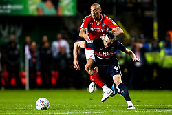John Marquis of Doncaster Rovers takes on Darren Pratley of Charlton Athletic - Mandatory by-line: Robbie Stephenson/JMP - 17/05/2019 - FOOTBALL - The Valley - Charlton, London, England - Charlton Athletic v Doncaster Rovers - Sky Bet League One Play-off Semi-Final 2nd Leg
