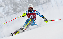 13.11.2016, Black Race Course, Levi, FIN, FIS Weltcup Ski Alpin, Levi, Salalom, Herren, 1. Lauf, im Bild Leif Kristian Haugen (NOR) // Leif Kristian Haugen of Norway in action during 1st run of mens Slalom of FIS ski alpine world cup at the Black Race Course in Levi, Finland on 2016/11/13. EXPA Pictures © 2016, PhotoCredit: EXPA/ Nisse Schmidt<br /> <br /> *****ATTENTION - OUT of SWE*****