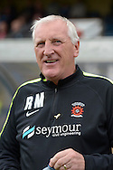 Ronnie Moore, the Hartlepool United manager looking on from the touchline before k/o. Skybet football league two match, Wycombe Wanderers v Hartlepool Utd at Adams Park in High Wycombe, Bucks on Saturday 5th Sept 2015.<br /> pic by John Patrick Fletcher, Andrew Orchard sports photography.