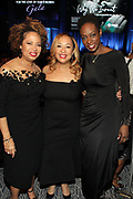 NEW YORK, NEW YORK- FEBRUARY 11: (L-R) Deryl McKissack Daniel (Honoree), Cheryl McKissack Daniel (Honoree) and Monique Nelson attend the National CARES Mentoring Movement 'FOR THE LOVE OF OUR CHILDREN' Gala Inside held at the Zeigfeld Ballroom on February 11, 2019 in New York City.  (Photo by Terrence Jennings/terrencejennings.com)