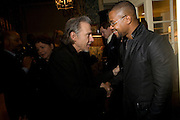 HARVEY KEITEL AND CUBA GOODING JNR., Pre Bafta dinner hosted by Charles Finch and Chanel. Mark's Club. Charles St. London. 9 February 2008.  *** Local Caption *** -DO NOT ARCHIVE-© Copyright Photograph by Dafydd Jones. 248 Clapham Rd. London SW9 0PZ. Tel 0207 820 0771. www.dafjones.com.