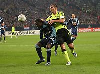 Photo: Maarten Straetemans/Sportsbeat Images.<br /> Shalke 04 v Chelsea. UEFA Champions League. 06/11/2007.<br /> Asamoah of Schalke with Frank Lampard of Chelsea