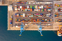 Aerial view of Adriatic Gate Container Terminal, Rijeka, Croatia.