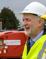 © Licensed to London News Pictures. 15/03/2018. Carlisle UK. Labour Leader Jeremy Corbyn is visiting a building site in Carlisle, Cumbria today. Photo credit: Andrew McCaren/LNP