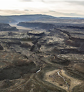 A view to the south from the central Moses Coulee reveals the rugged, almost-alien landscape of the Three Devils Grade, an ancient scar of the spectacular Ice Age floods that formed Central Washington's Channeled Scablands. (Steve Ringman / The Seattle Times)