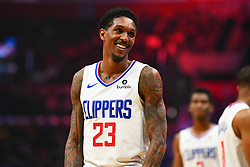 January 28, 2019 - Los Angeles, CA, U.S. - LOS ANGELES, CA - JANUARY 28: Los Angeles Clippers Guard Lou Williams (23) looks on during a NBA game between the Atlanta Hawks and the Los Angeles Clippers on January 28, 2019 at STAPLES Center in Los Angeles, CA. (Photo by Brian Rothmuller/Icon Sportswire) (Credit Image: © Brian Rothmuller/Icon SMI via ZUMA Press)