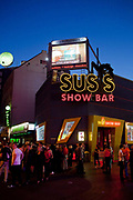 In the St Pauli area of Hamburg, is the Reeperbahn. It is the most famous area for nightlife in the city, as well as the red light district where prostitues are seen openly working on the street. It is also the area where the Beatles performed during thier early years 1960-62.