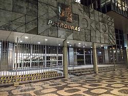 August 2, 2017 - Rio De Janeiro, Rio de Janeiro, Brazil - Rio de Janeiro, Brazil, August 02, 2017: Night view at the building where he runs Petrobras headquarters in downtown Rio. (Credit Image: © Luiz Souza/NurPhoto via ZUMA Press)
