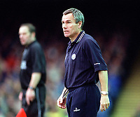 Peter Taylor the Leicester City Manager. Leicester City v Manchester United. FA Premiership, 14/10/00. Credit: Colorsport / Andrew Cowie.