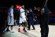 DALLAS, TX - DECEMBER 17: Sterling Brown #3 of the SMU Mustangs is introduced before tipoff against the Hampton Pirates on December 17, 2015 at Moody Coliseum in Dallas, Texas.  (Photo by Cooper Neill/Getty Images) *** Local Caption *** Sterling Brown