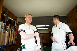Embargoed to 0001 Monday August 28 Lynton & Lynmouth players get changed inside the home team changing room before the annual friendly match between Cravens Cavaliers and Lynton & Lynmouth Cricket Club at the ground based inside the Valley of Rocks, North Devon, on Saturday August 5th, 2017.