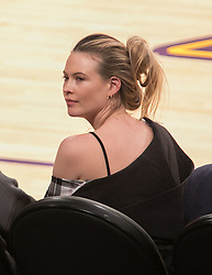 October 20, 2018 - Los Angeles, California, U.S - Behati Prinsloo attends the NBA game between the Los Angeles Lakers and the Houston Rockets on Saturday October 20, 2018 at the Staples Center in Los Angeles, California. (Credit Image: © Prensa Internacional via ZUMA Wire)