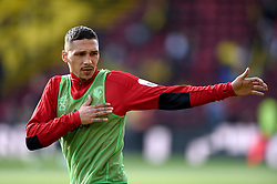 Watford's Jose Holebas during the pre-match warm up