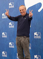 Dario Argento at the Dawn Of The Dead - European Cut film photocall at the 73rd Venice Film Festival, Sala Grande on Friday September 2nd 2016, Venice Lido, Italy.