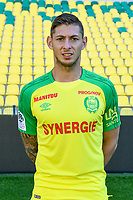 Emiliano Sala during photoshooting of Fc Nantes for new season 2017/2018 on September 18, 2017 in Nantes, France. (Photo by Philippe Le Brech/Icon Sport)