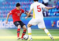 Fotball , 11. juni 2013 , Privatkamp , Norge - Makedonia<br /> Norway - FYR Macedonia 2-0<br /> <br />  Tarik Elyounoussi , Norge