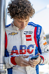 May 25, 2018 - Indianapolis, Indiana, United States of America - MATHEUS LEIST (4) of Brazil takes to the track for a practice session for the Indianapolis 500 at Indianapolis Motor Speedway in Indianapolis Indiana. (Credit Image: © Walter G Arce Sr Asp Inc/ASP via ZUMA Wire)