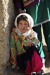 Portrait of small girl Rahima 6 years old, Falalij Village, Daikundi Province, Afghanistan