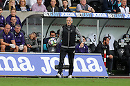 Francesco Guidolin, the Swansea city manager looks on. Premier league match, Swansea city v Manchester city at the Liberty Stadium in Swansea, South Wales on Saturday 24th September 2016.<br /> pic by Andrew Orchard, Andrew Orchard sports photography.