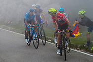 Simon Yates (GBR, Mitchelton Scott) Miguel Angel Lopez (COL, Astana Pro Team) and Nairo Quintana (COL, Movistar) during the 73th Edition of the 2018 Tour of Spain, Vuelta Espana 2018, Stage 15 cycling race, 15th stage Ribera de Arriba - Lagos de Covadonga 178,2 km on September 9, 2018 in Spain - Photo Luis Angel Gomez/ BettiniPhoto / ProSportsImages / DPPI
