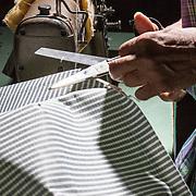 Cutting fabric for a box spring mattress
