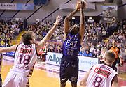 DESCRIZIONE : Venezia campionato serie A 2013/14 Reyer Venezia EA7 Olimpia Milano <br /> GIOCATORE : Gani Lawal<br /> CATEGORIA : tiro<br /> SQUADRA : EA7 Olimpia Milano<br /> EVENTO : Campionato serie A 2013/14<br /> GARA : Reyer Venezia EA7 Olimpia<br /> DATA : 28/11/2013<br /> SPORT : Pallacanestro <br /> AUTORE : Agenzia Ciamillo-Castoria/A.Scaroni<br /> Galleria : Lega Basket A 2013-2014  <br /> Fotonotizia : Venezia campionato serie A 2013/14 Reyer Venezia EA7 Olimpia  <br /> Predefinita :