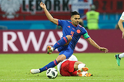 June 24, 2018 - Kazan, Russia - Radamel Falcao of Colombia during the Russia 2018 World Cup Group H football match between Poland and Colombia at the Kazan Arena in Kazan on June 24, 2018. Colombia won 0-3. (Credit Image: © Foto Olimpik/NurPhoto via ZUMA Press)