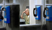 Michael Skakel waits in a visitation room for a decision during a parole hearing at McDougall-Walker Correctional Institution in Suffield, Conn. Parole officials denied Skakel's first bid for parole since he was convicted a decade ago of killing his neighbor in 1975.  Skakel is serving 20 years to life for fatally beating Martha Moxley with a golf club in Greenwich when they were 15-year-old neighbors. (AP Photo/Jessica Hill)