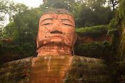 China, Sichuan Province, Leshan, giant, stone carved Dafo, Buddha
