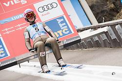 February 8, 2019 - Zdenka Pesatova of Czech Republic on first competition day of the FIS Ski Jumping World Cup Ladies Ljubno on February 8, 2019 in Ljubno, Slovenia. (Credit Image: © Rok Rakun/Pacific Press via ZUMA Wire)