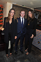 Left to right, AMANDA CROSSLEY, GUY PELLY and AMANDA FERRY at the launch party for the new nightclub Tonteria, 7-12 Sloane Square, London on 25th October 2012.