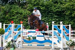 08, Youngster-Springprfg. Kl. M* 6-8j. Pferde,, Ehlersdorf, Reitanlage Jörg Naeve, 15. - 18.07.2021, Andre Schulz (GER), Corentin AS,
