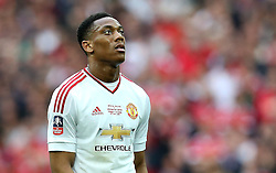 Anthony Martial of Manchester United looks up - Mandatory by-line: Robbie Stephenson/JMP - 21/05/2016 - FOOTBALL - Wembley Stadium - London, England - Crystal Palace v Manchester United - The Emirates FA Cup Final