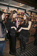 Plum Sykes and Liz Goldwyn, Book launch of Pretty Things by Liz Goldwyn at Daunt <br />