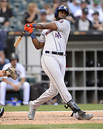CHICAGO - AUGUST 14:  Jordan Alvarez #44 of the Houston Astros bats against the Chicago White Sox on August 14, 2019 at Guaranteed Rate Field in Chicago, Illinois.  (Photo by Ron Vesely/MLB Photos via Getty Images)  *** Local Caption *** Jordan Alvarez