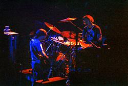Phil Lesh and Bill Kreutzmann with The Grateful Dead at Virginia Polytechnic University, VPI, Virginia Tech, Cassell Coliseum. 4-14-78 - 1st Set. Roll Number 78C12-26A