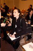 Kirsten Scott Thomas, Chanel couture fashion show, Paris, 20 January 2004. © Copyright Photograph by Dafydd Jones 66 Stockwell Park Rd. London SW9 0DA Tel 020 7733 0108 www.dafjones.com