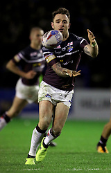 Leeds Rhino's Richie Myler during the Betfred Super League match at the Halliwell Jones Stadium, Warrington. PRESS ASSOCIATION Photo. Picture date: Thursday February 1, 2018. See PA story RUGBYL Warrington. Photo credit should read: Richard Sellers/PA Wire. RESTRICTIONS: Editorial use only. No commercial use. No false commercial association. No video emulation. No manipulation of images.