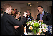 MARIBEL MONTERO; ALLEJANDRO PINEIRO; CHRISTINA MATTIN; RODOLFO VILLAPLANA, The hon Alexandra Foley hosts drinks to introduce ' Lady Foley Grand Tour' with special guest Julian Fellowes. the Sloane Club. Lower Sloane st. London. 14 May 2014