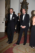 Dr. Luigi   Maramotti and Giovanni Valeri Manera  Dinner at the Italian Embassy in which the winner of the MaxMara Art Prize ( in collaboration with the Whitechapel art gallery )for Women is announced. Grosvenor Sq. London. 29 January 2008.  -DO NOT ARCHIVE-© Copyright Photograph by Dafydd Jones. 248 Clapham Rd. London SW9 0PZ. Tel 0207 820 0771. www.dafjones.com.