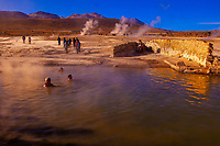 Thermal pool, El Tatio geyser field, Atacama Desert, Chile