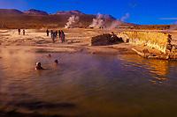 Thermal pool, El Tatio geyser field, Atacama Desert, Chile