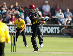 Somerset's Peter Trego<br /> <br /> Photographer Simon King/Replay Images<br /> <br /> Vitality Blast T20 - Round 1 - Somerset v Gloucestershire - Friday 6th July 2018 - Cooper Associates County Ground - Taunton<br /> <br /> World Copyright © Replay Images . All rights reserved. info@replayimages.co.uk - http://replayimages.co.uk