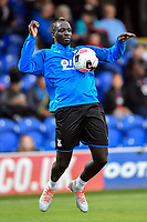 Football - 2019 / 2020 pre-season friendly - AFC Wimbledon vs. Crystal Palace<br /> <br /> Crystal Palace's Mamadou Sakho during the pre-match warm-up, at Kingsmeadow Stadium.<br /> <br /> COLORSPORT/ASHLEY WESTERN