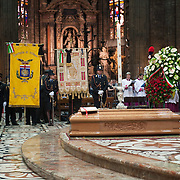 MILAN, ITALY - JUNE 14:  The funeral of Monsignor Luigi Padovese at the Duomo on June 14, 2010 in Milan, Italy. Monsignor Luigi Padovese Bishop in Anatolia was murdered by his own driver on June 3rd in Iskenderun, Turkey ***Agreed Fee's Apply To All Image Use***<br /> Marco Secchi /Xianpix<br />  tel +44 (0) 207 1939846<br />  e-mail ms@msecchi.com <br /> www.marcosecchi.com
