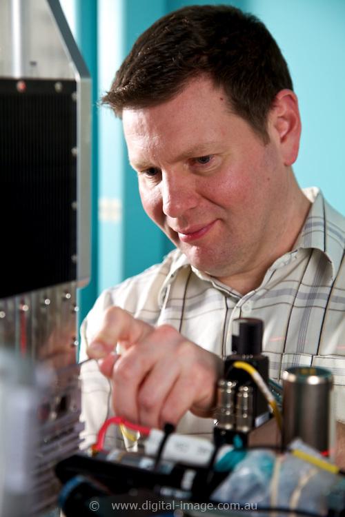 Xray Flourescence Microscopy Beamline, Australian Synchrotron.   Staff at Xray Flourescence Microscopy Beamline, Dr Daryl Howard
