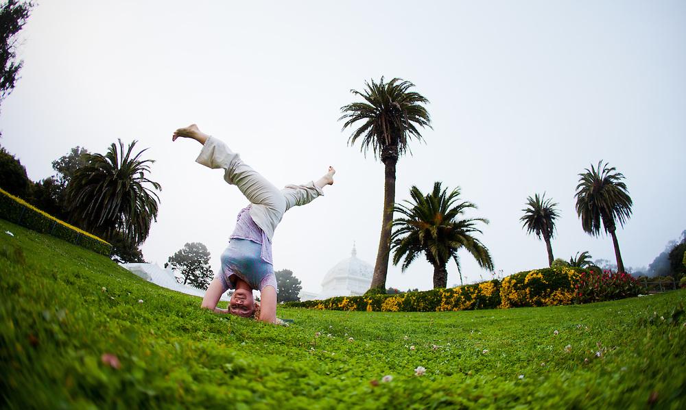 Kimberly Mackesy at the Conservatori of flowers, Botanical Garden - San Francisco